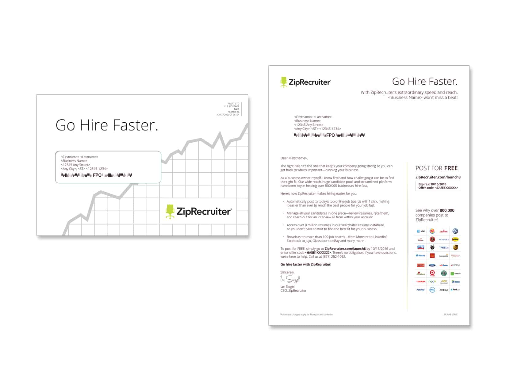 ZipRecruiter 2987-0616-3 - Direct Mail and Direct Marketing