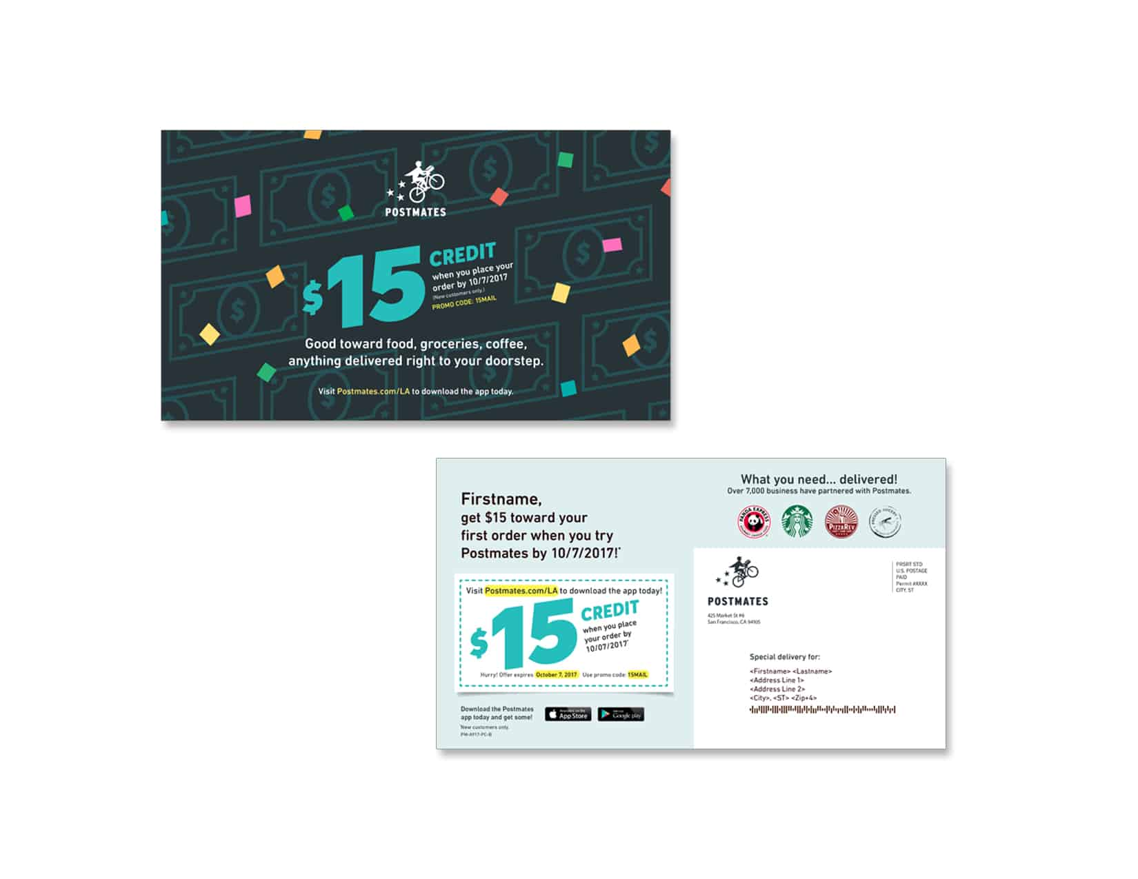Postmates 1229-0817-2 - Direct Mail and Direct Marketing