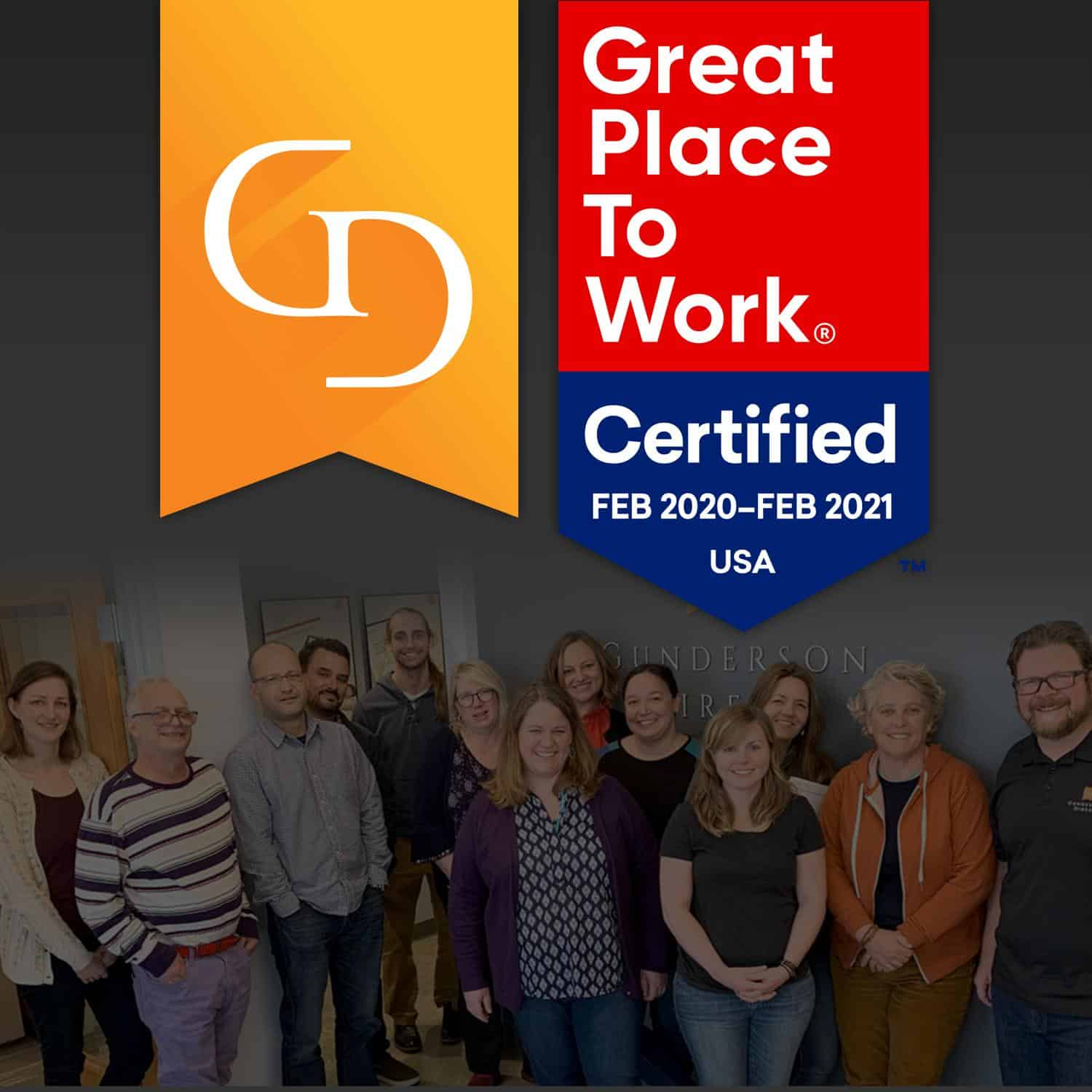 Gunderson Direct is Great Place to Work-Certified™