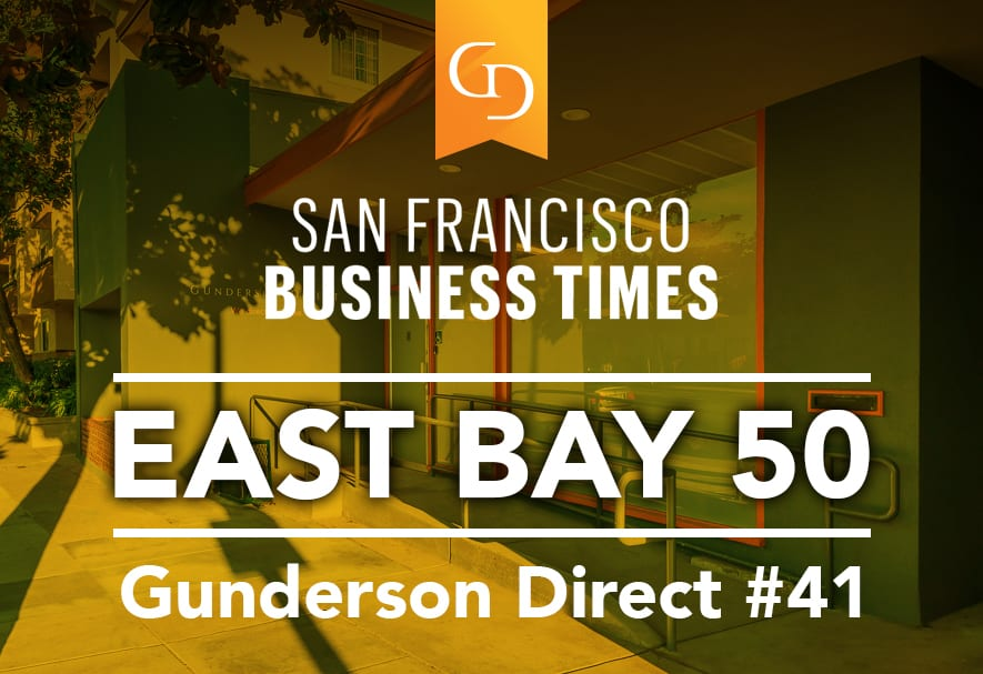 Gunderson Direct Ranks #41 On Fastest-Growing Companies In The East Bay List